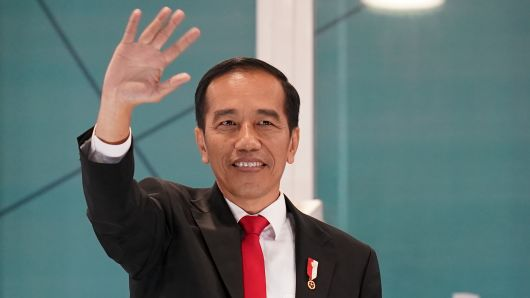 Indonesian President Joko Widodo attend the opening ceremony of the Asian Games on August 18, 2018 in Jakarta, Indonesia.