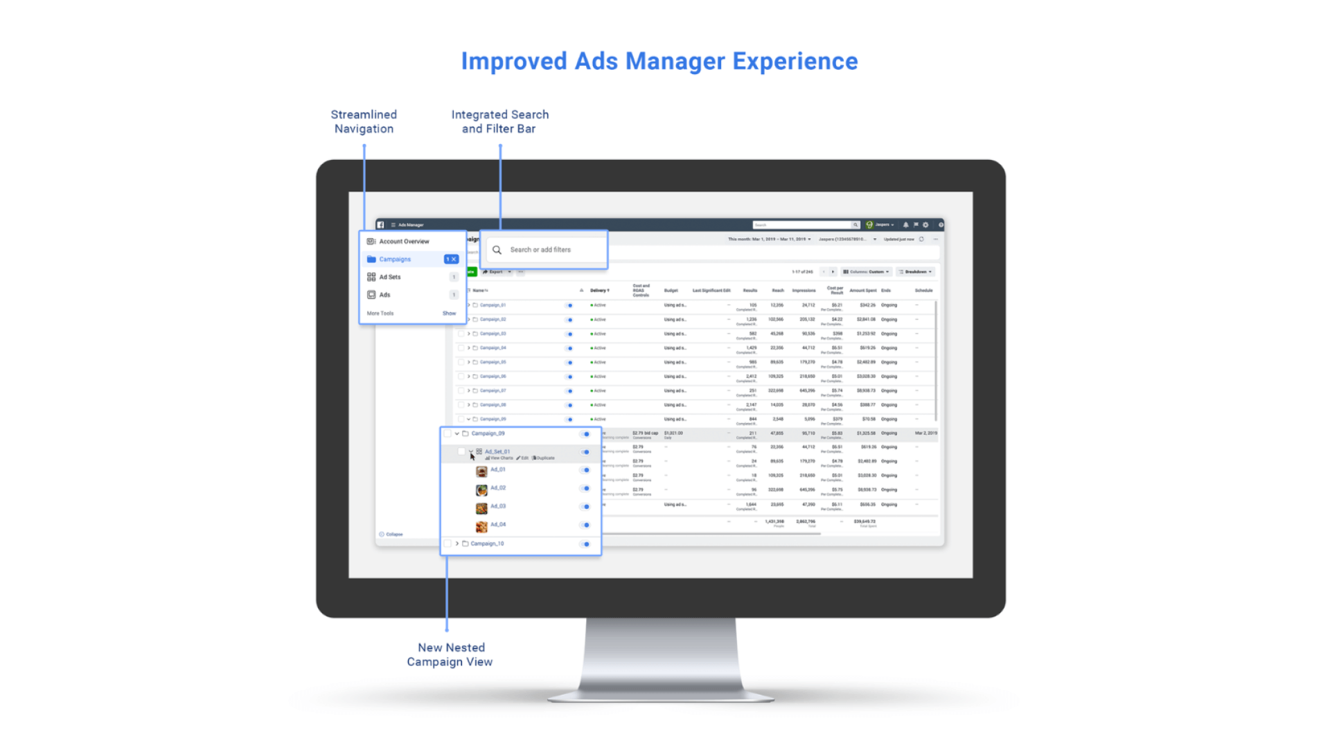 Facebook gives Ads Manager a design refresh and launches new cost cap bidding strategy
