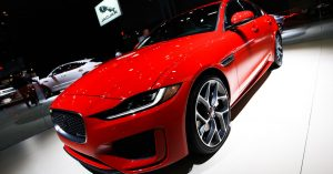 Jaguar shows off high-tech upgrades to classic XE sports car at NY auto show