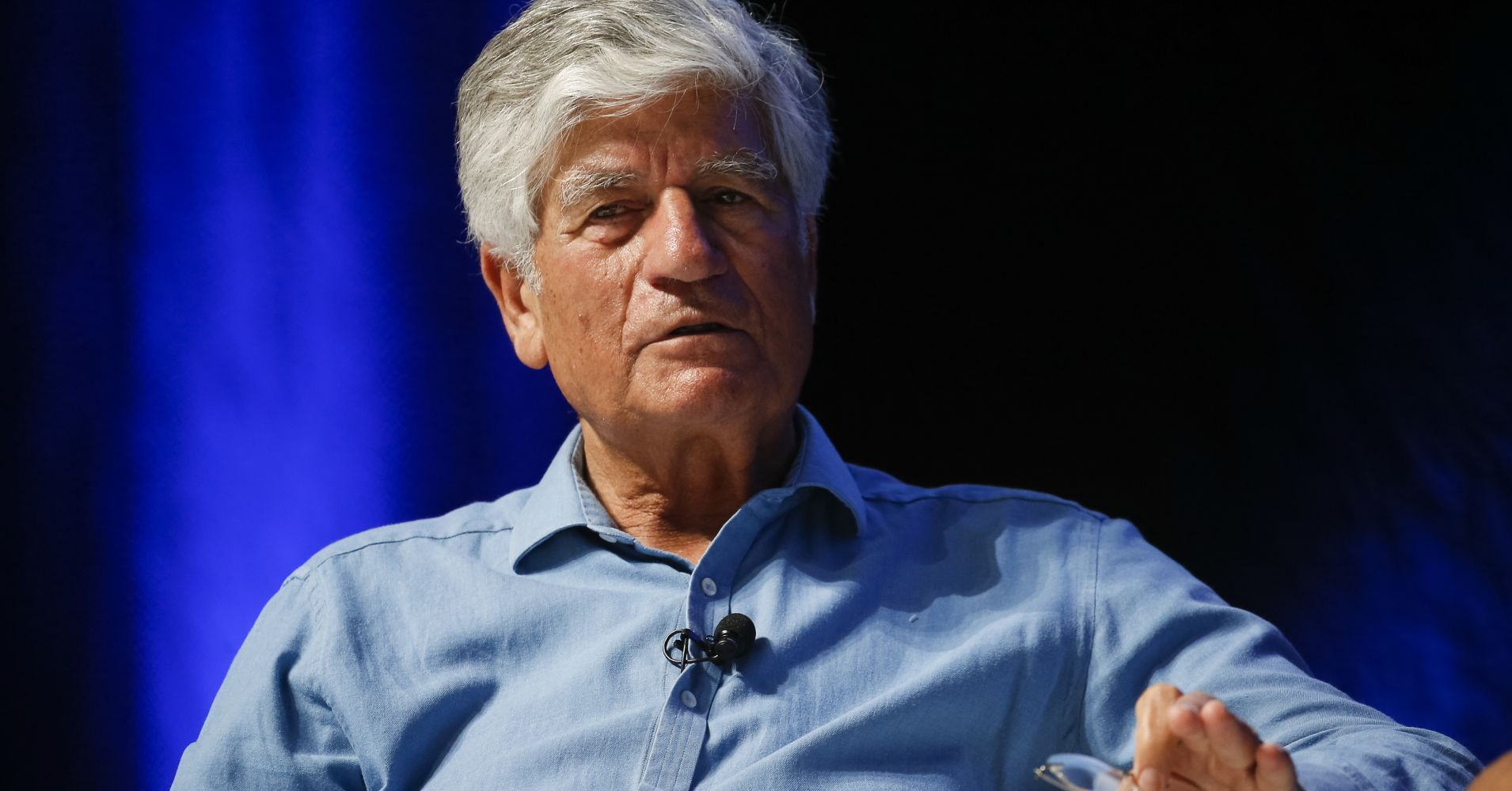 Chairman of Publicis Groupe Maurice Levy speaks during the 'Can Creativity Change the World?' seminar during the Cannes Lions Festival 2017
