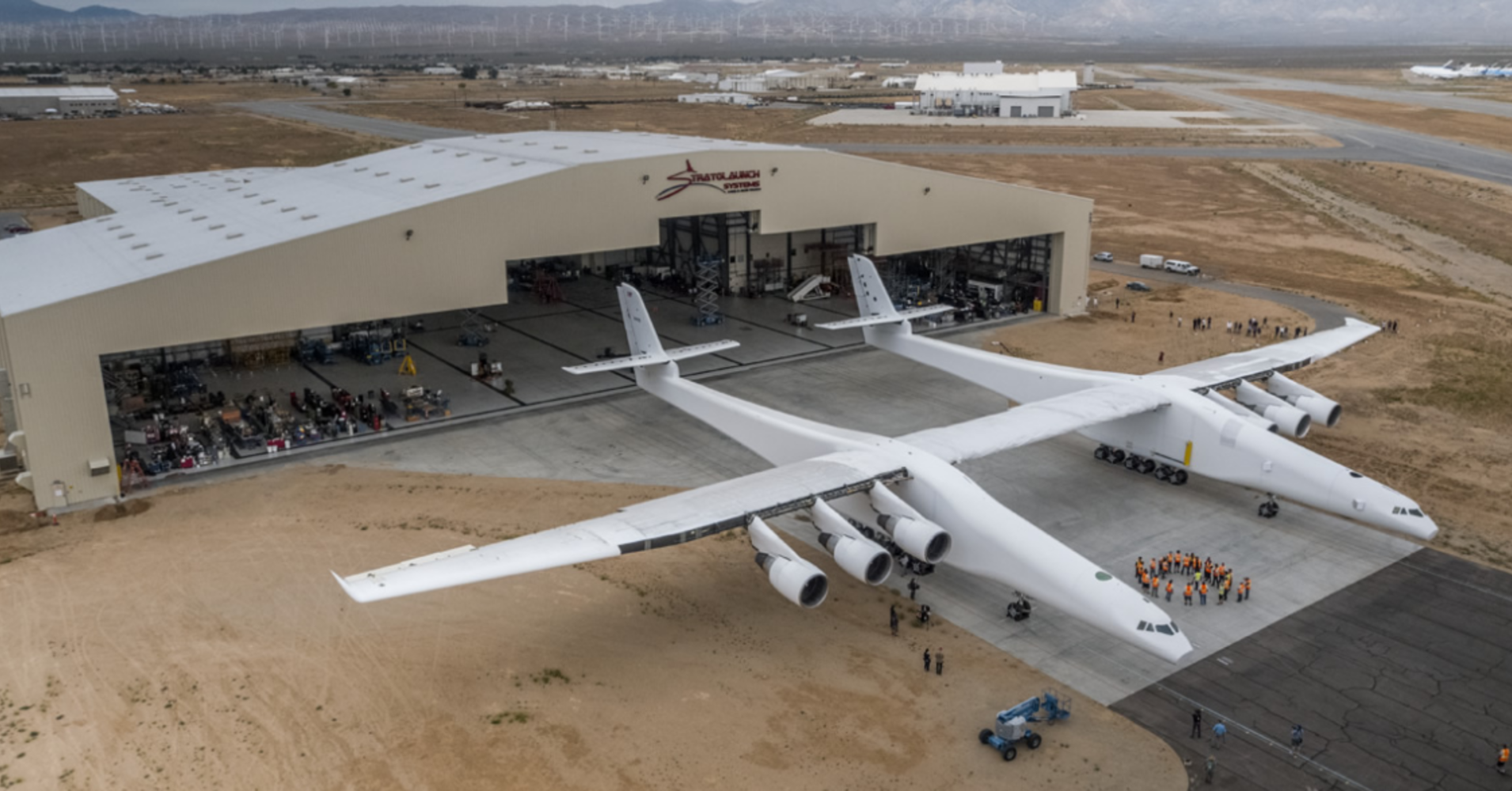 World's biggest airplane, built for rockets