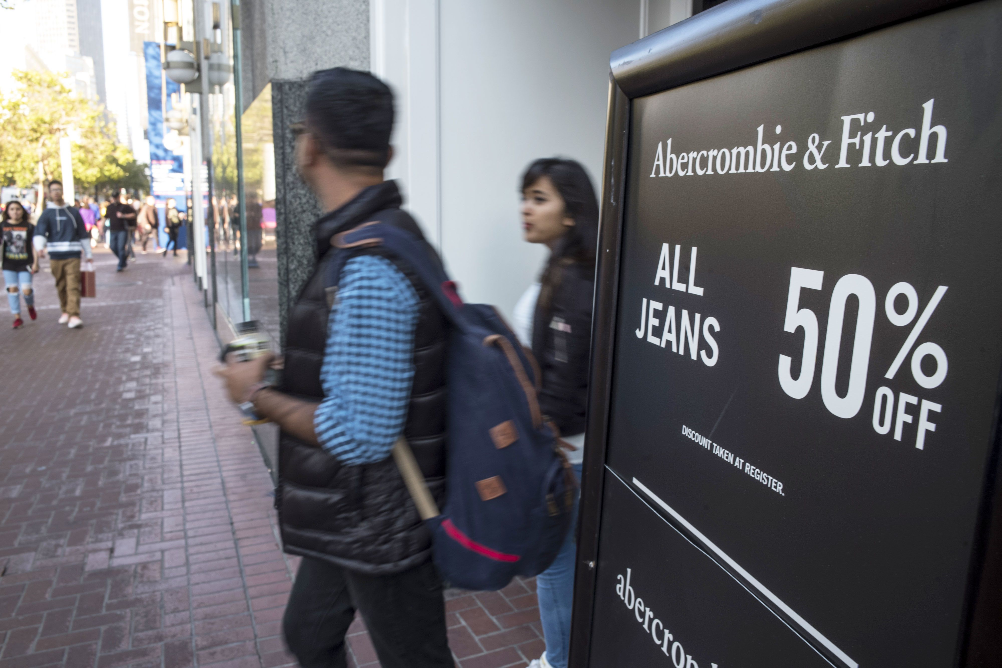 Apparel retailers got whacked Wednesday