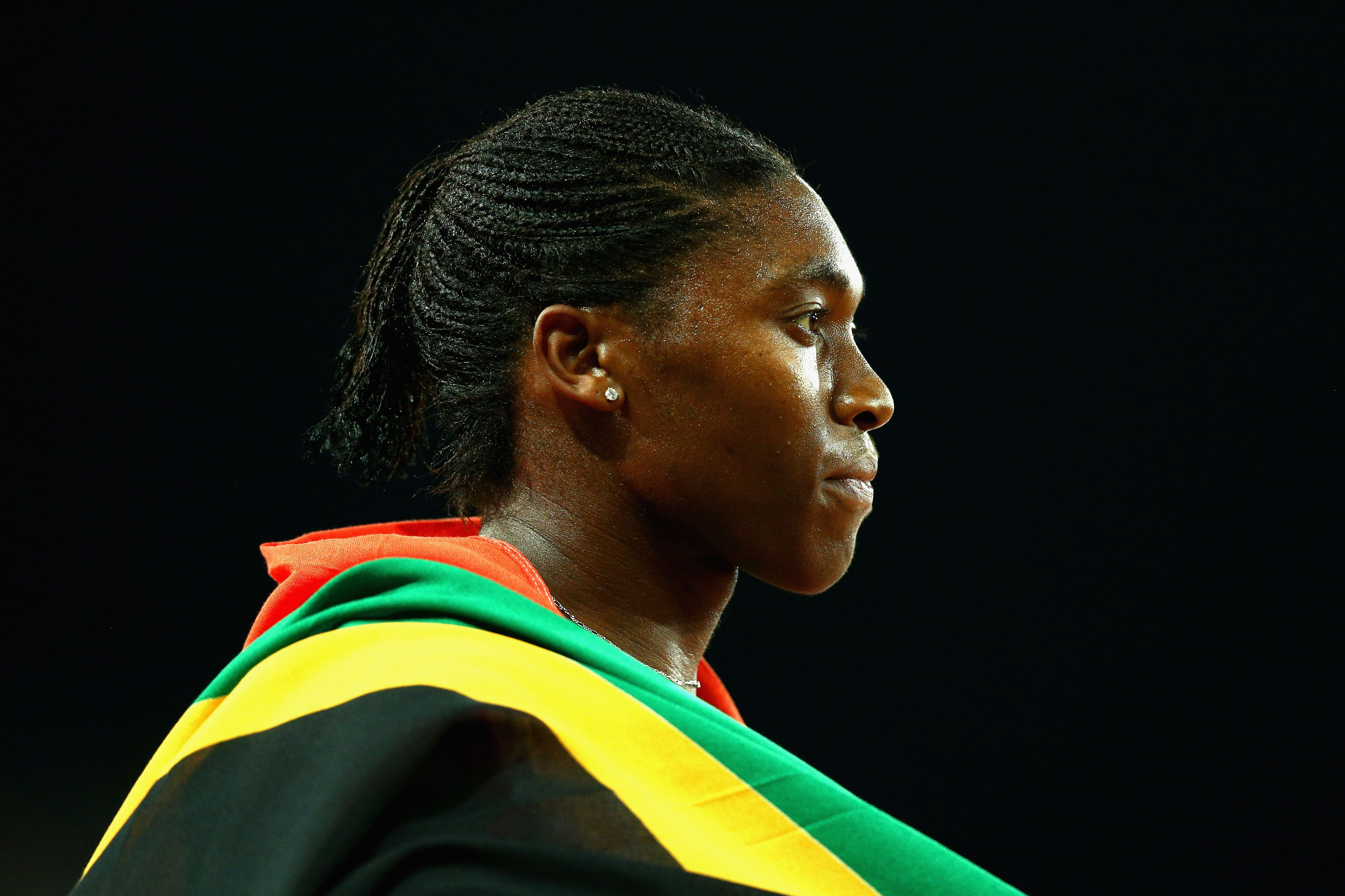 Caster Semenya of South Africa wins gold in the Women's 800 metres final during athletics on day nine of the Gold Coast 2018 Commonwealth Games at Carrara Stadium on April 13, 2018 on the Gold Coast, Australia.
