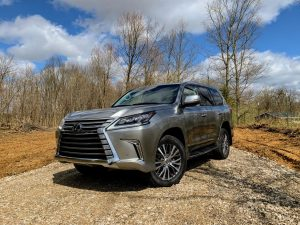 The Lexus LX 570 is a serious off-road SUV that gives the Range Rover a run for the money