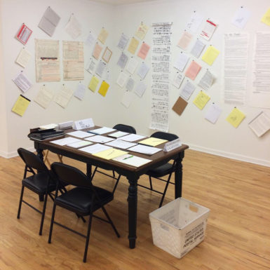 You Can Transcribe and Send the U.S. Constitution to White House, in Morgan O'Hara's Show at Mitchell Algus in New York -ARTnews