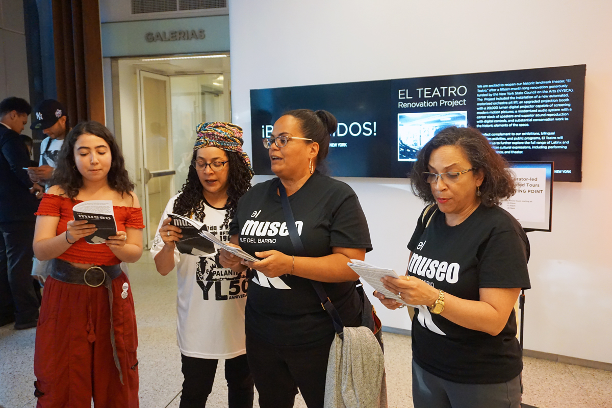 Activists Stage Action at El Museo del Barrio, Demanding Institutional Change -ARTnews