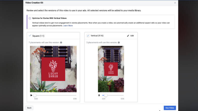Facebook Video Creation Kit gets new editing, resizing options and 'Save' feature