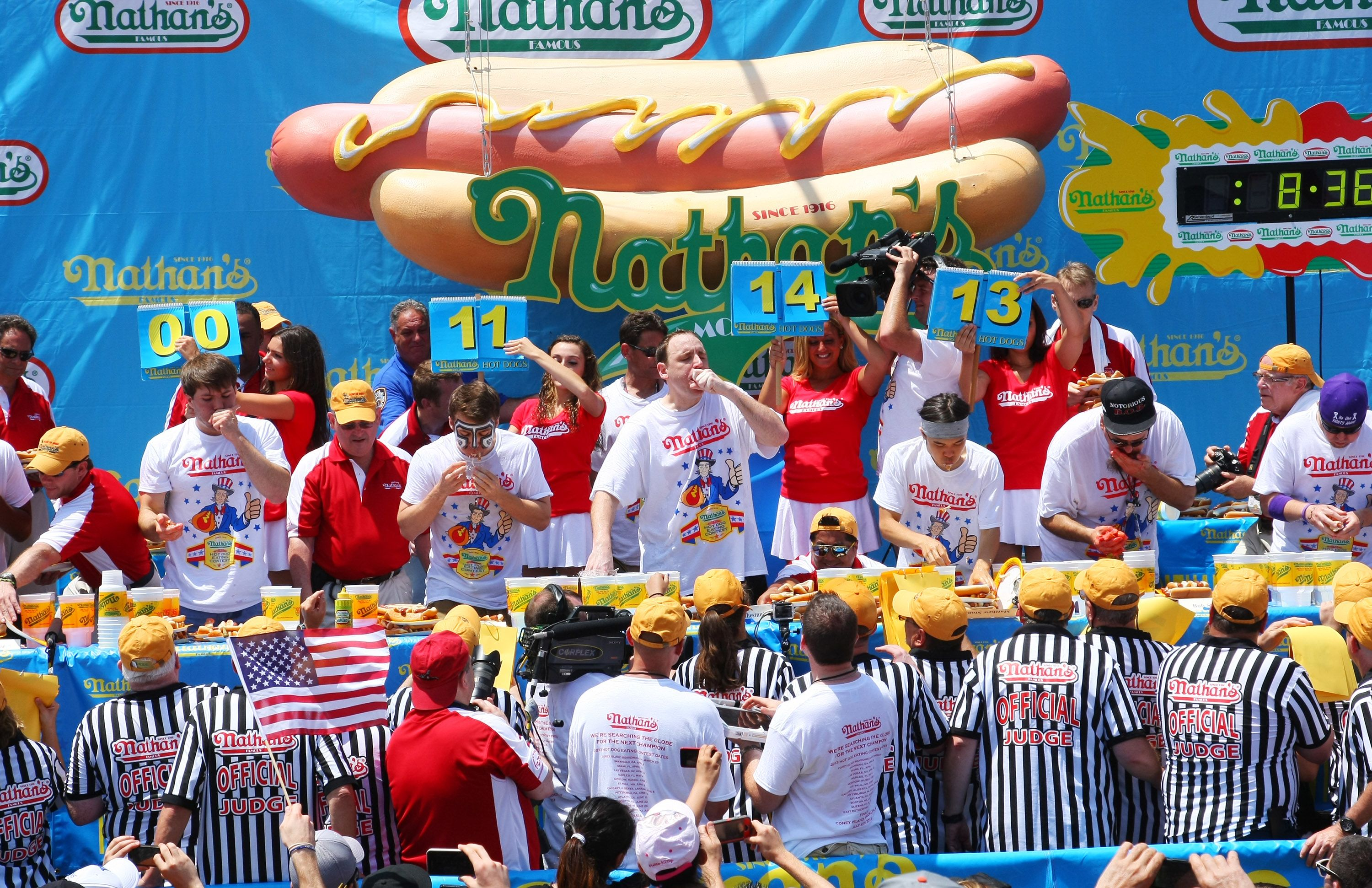 At Nathan's hot dog eating contest, there is only one star