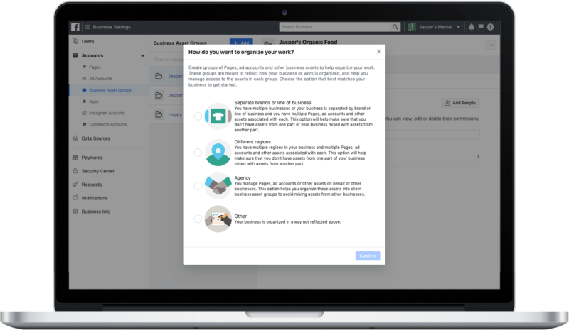 Facebook Business Manager redesign with bulk permissions management rolling out