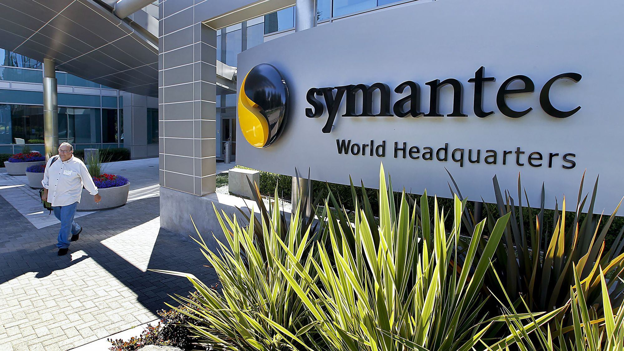 Symantec shares soar on report that Broadcom in talks to acquire it