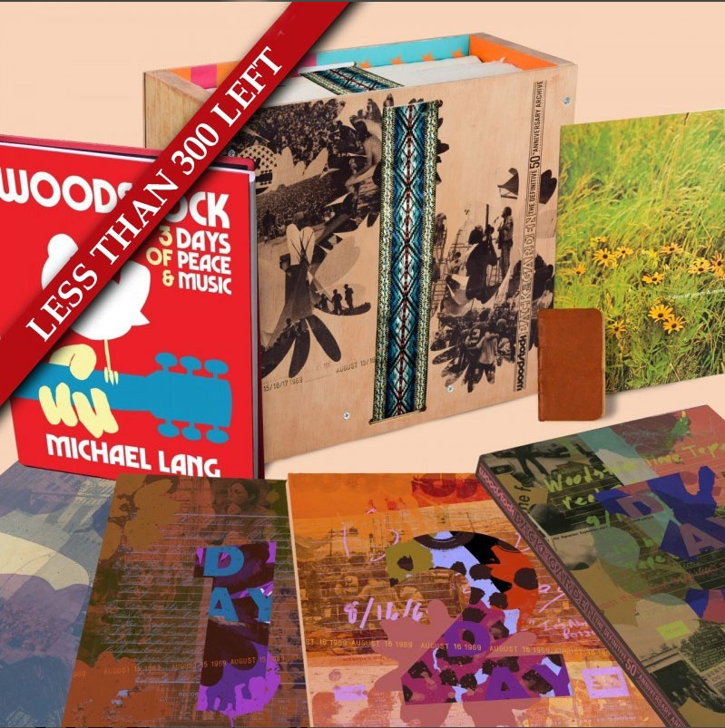 This record company wants $800 for their Woodstock 50th anniversary box set