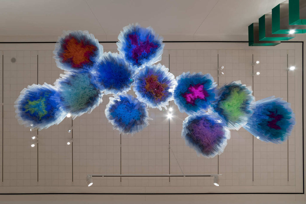 Ruben & Isabel Toledo, Synthetic Cloud, 2018, installation view at Detroit Institute of Arts.