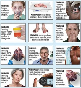 Graphic cigarette warning labels unveiled by FDA
