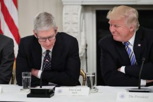 Trump says Apple CEO Tim Cook is a 'great executive because he calls'