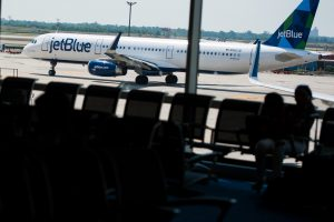 JetBlue slides after lowering guidance on Dorian, demand concerns