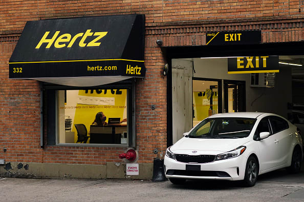 Hertz shares surge on plan to sell $1 billion in stock in bankruptcy