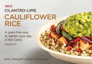 Chipotle will test cauliflower rice as consumers follow grain-free diets