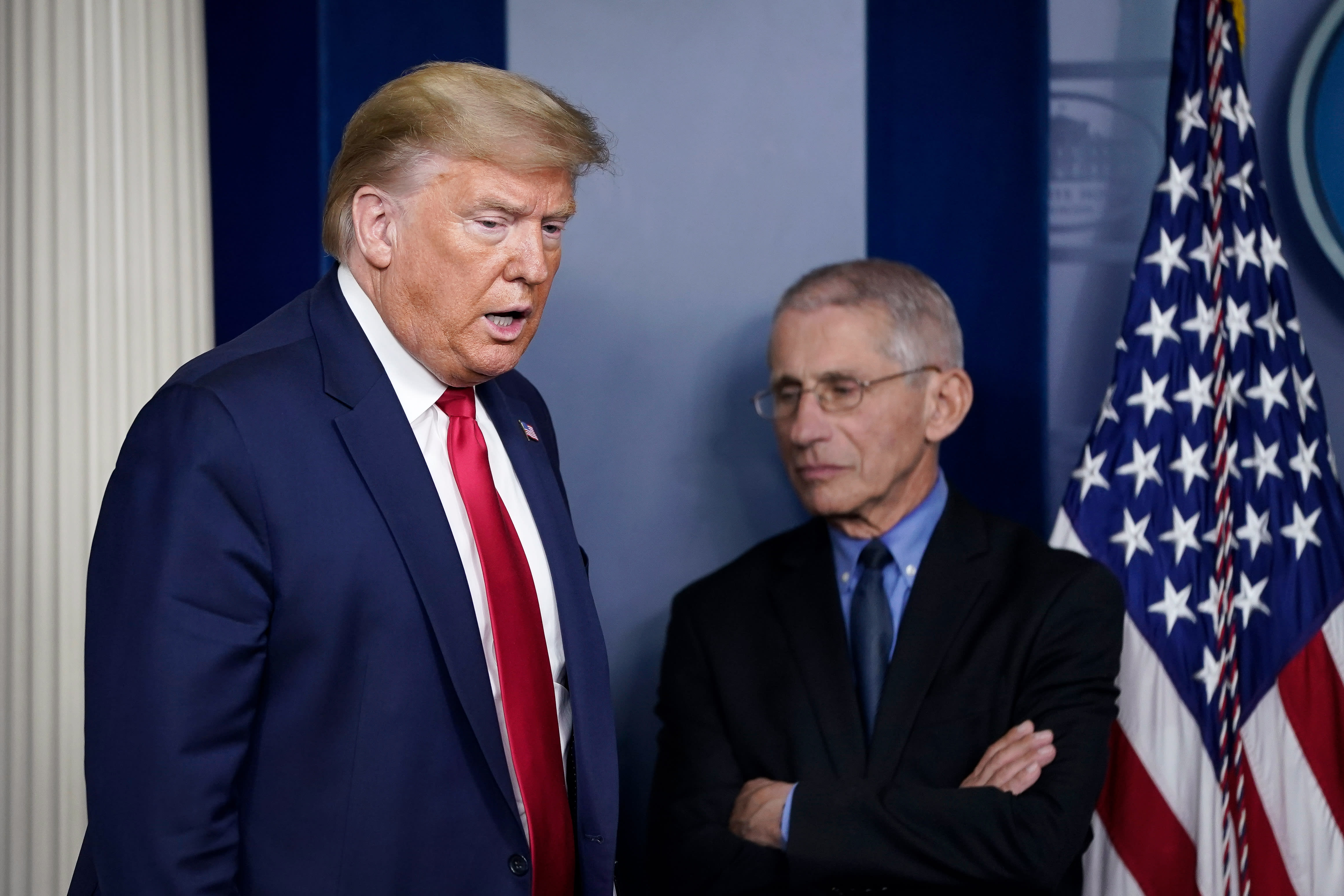 Trump calls Fauci a 'disaster,' says people 'are tired of Covid'