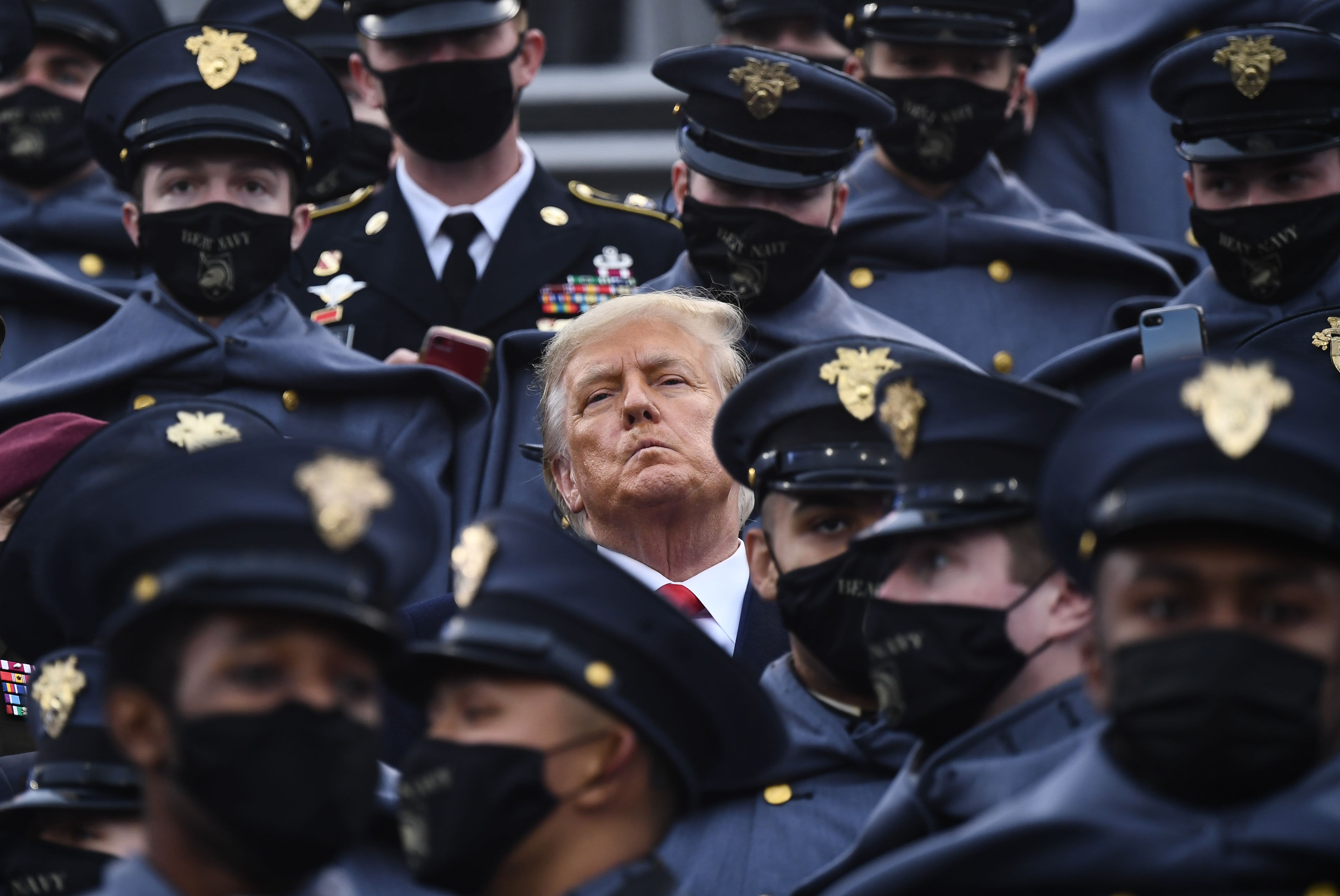 Trump does not wear mask at Army-Navy game despite Covid concerns
