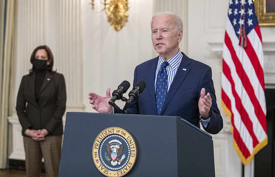 Biden to lay out his vision for a post-Covid world in first primetime address as president