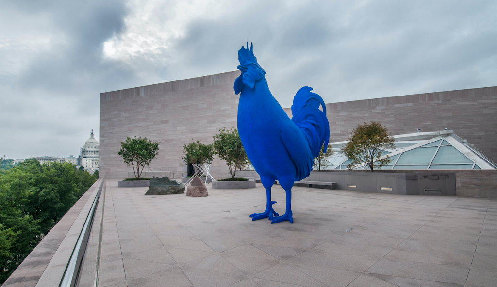 Glenstone Museum Gifts Katharina Fritsch Rooster Sculpture to D.C.'s National Gallery