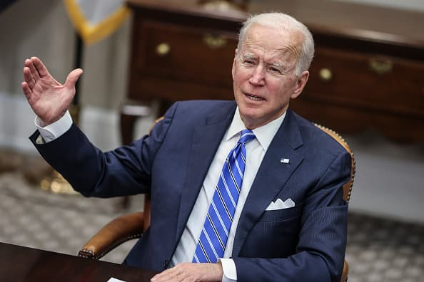 Watch live: President Biden meets with CEOs from J&J and Merck
