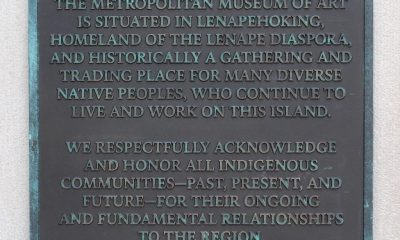 Met Museum Installs Land Acknowledgement Plaque on Facade