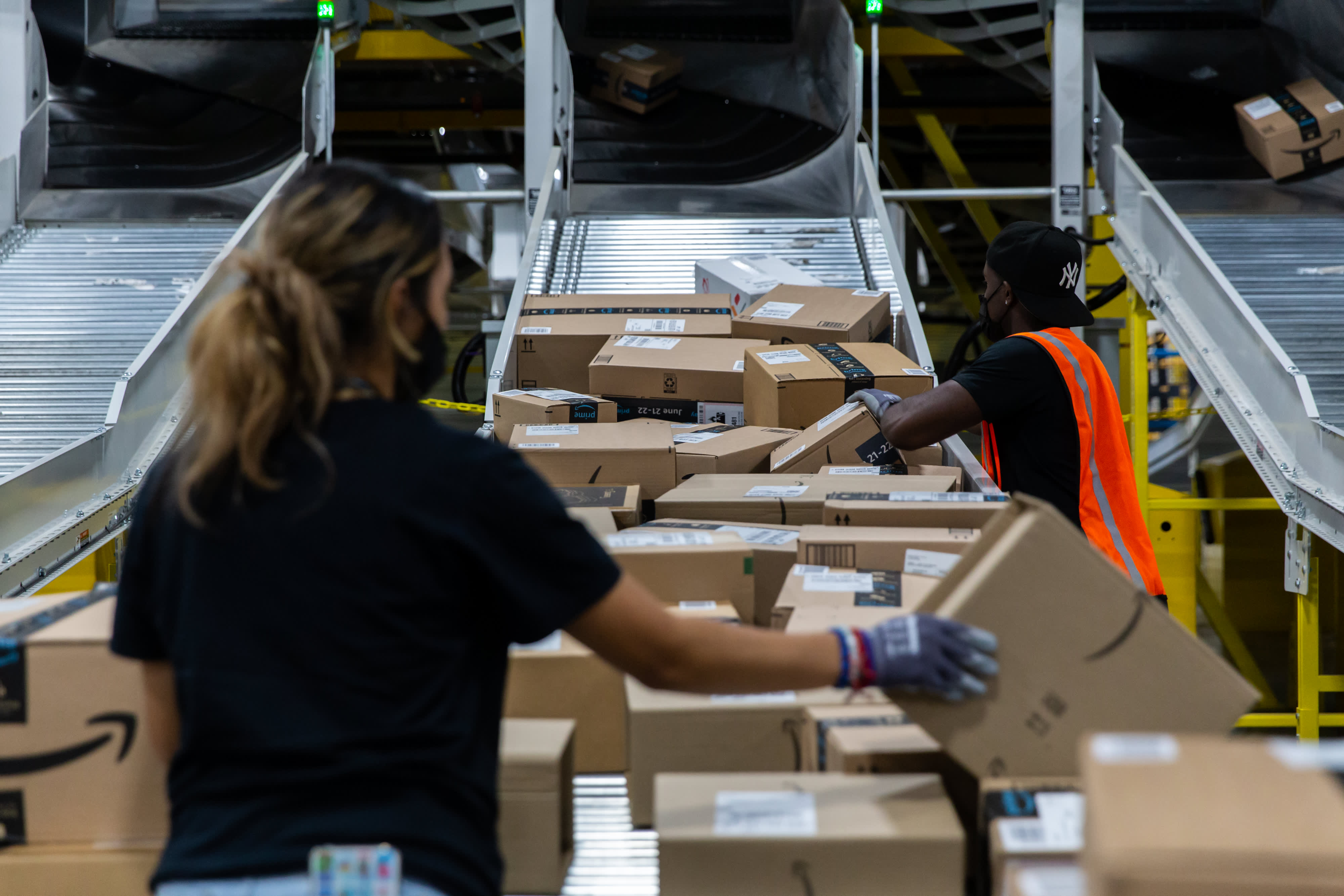 First day of Amazon Prime Day draws most online spending so far in 2021, Adobe says