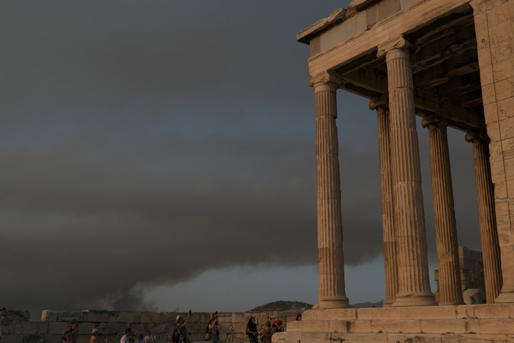Greece's Acropolis Closes as Wildfires Resulting from a Heat Wave Rage On