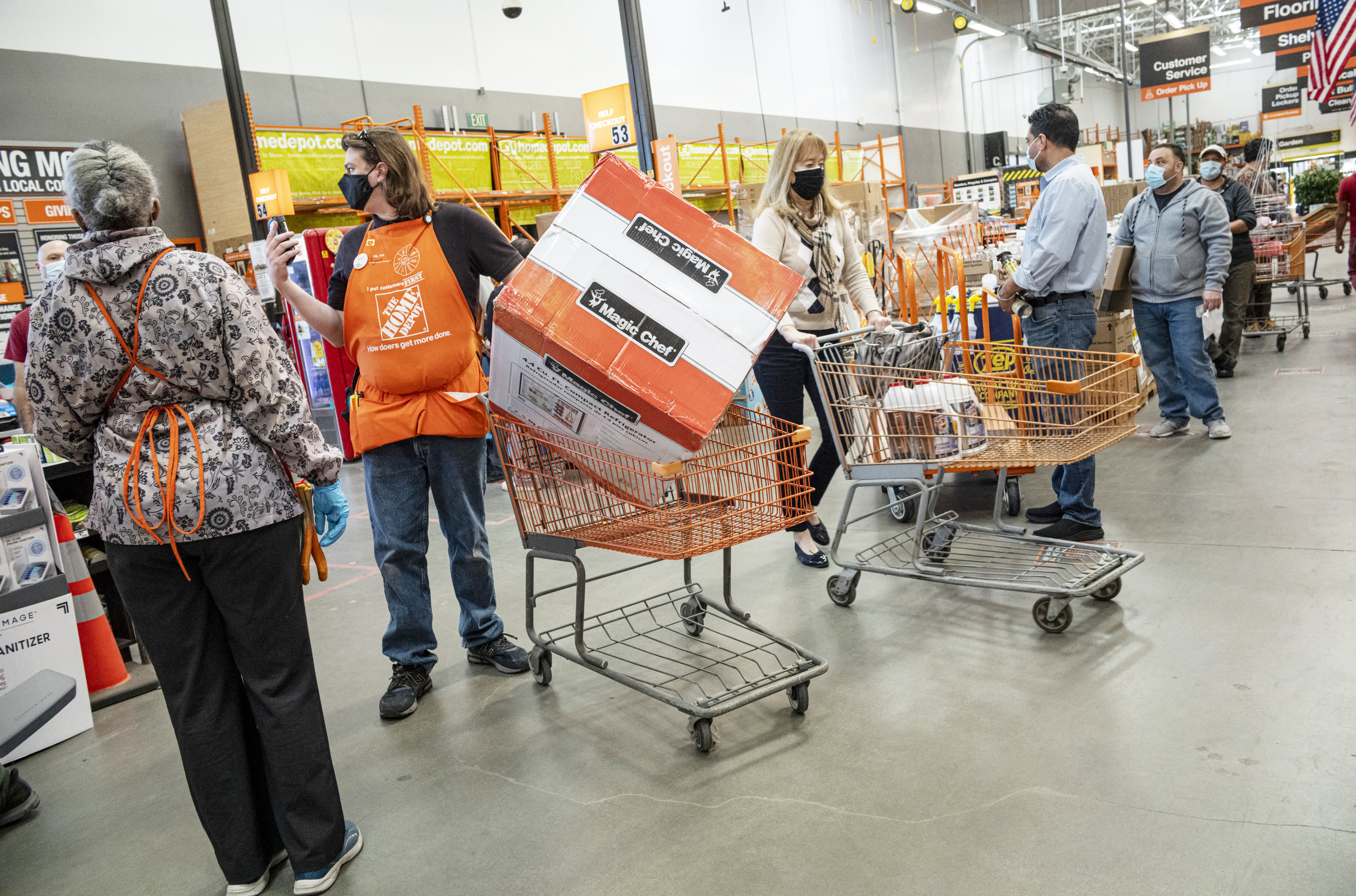 Home Depot is set to report earnings before the bell