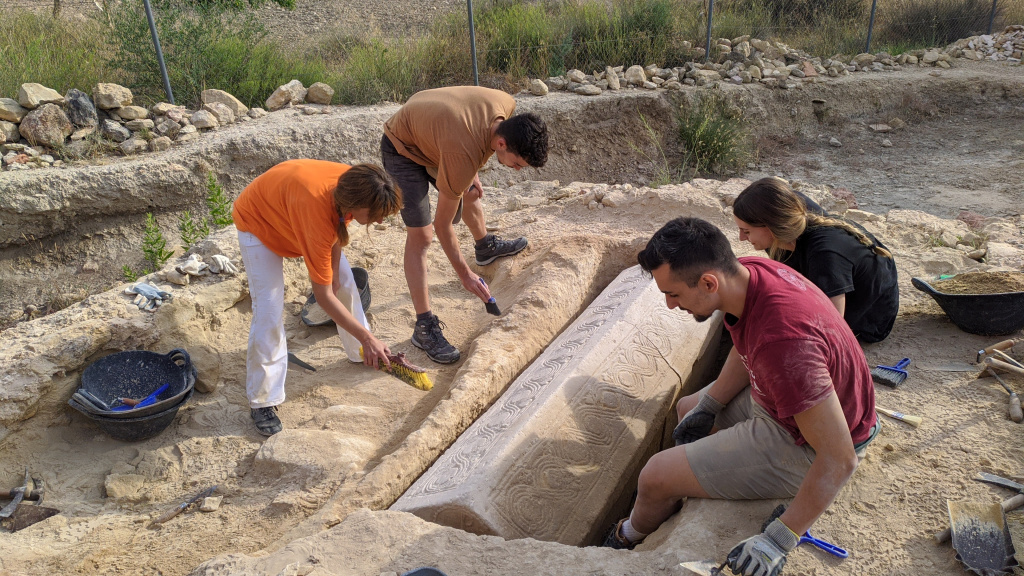 Pristine Visigoth Sarcophagus Discovered at Ancient Roman Complex in Spain