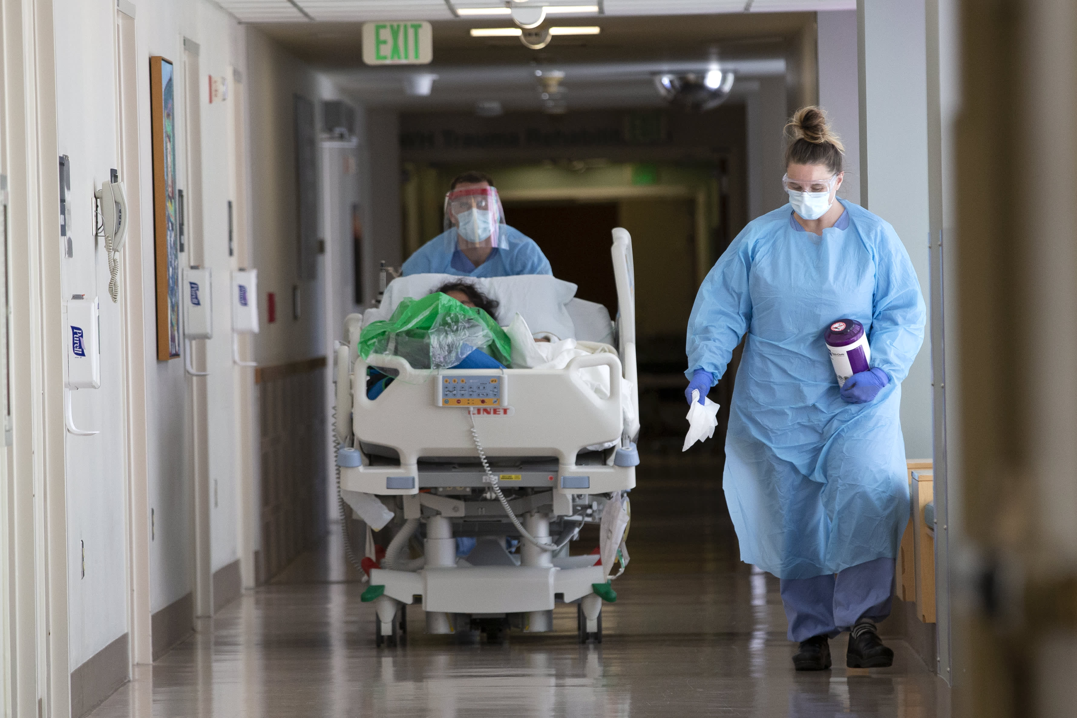 Washington state officials say they're short on hospital staff and running out of ICU beds as Covid resurges