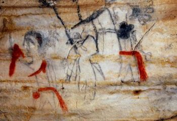 A pictograph showing a human and